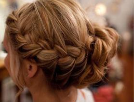 Bridesmaid hairFrench Braids, Hair Ideas, Braided Buns, Wedding Hair, Bridesmaid Hair, Hair Style, Side Braids, Updo, Braids Buns