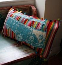 antique roots, modern twist: Vw Bus, Campervan Stripe, Cross Stitches, Pillows, Crafts