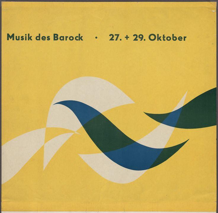 "Otl Aicher (also known as Otto Aicher) Musik des Barock 1949-51 Medium Photolithograph Dimensions 16 1/4 x 16 5/16"" (41.3 x 41.4 cm) Credit Gift of the artist Otl Aicher (also known as Otto Aicher). Musik des Barock. 1949-51"