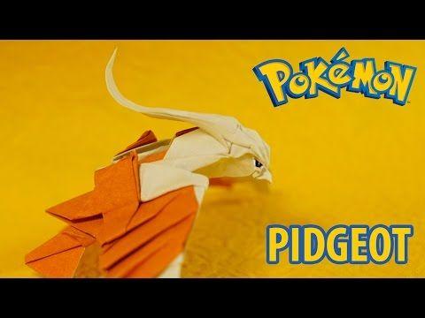 POKEMON - Origami Pidgeot Tutorial - Intermediate Version (Henry Phạm) - YouTube