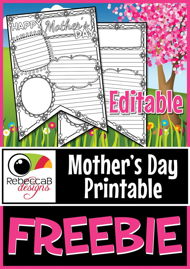 FREE Mother's Day Printable – FREE Editable PowerPoint.