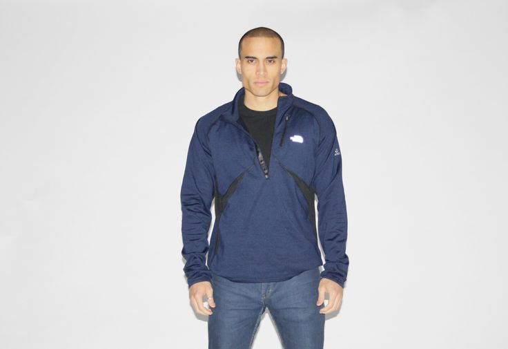 The North Face Black Navy Blue Pullover Athletic Sweater Jacket - NE – Vanguard Vintage Clothing