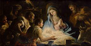 Adoration of the shepherds / Adoración de los pastores / Anbetung der Hirten // circa 1696 // Luca Giordano // Kunsthistorisches Museum, Vienna // #Jesus #Christ #Christmas #Nativity #Navidad #Natale #Noël