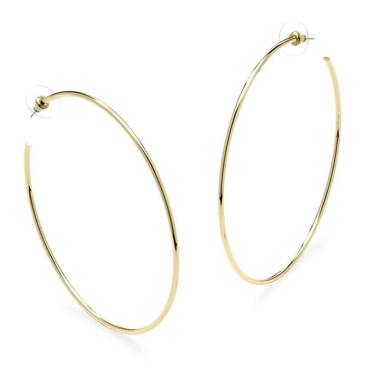Rated by 25,000+ Customers. Hoop Earrings in 18k Gold-Plated With Surgical Steel Posts Mor