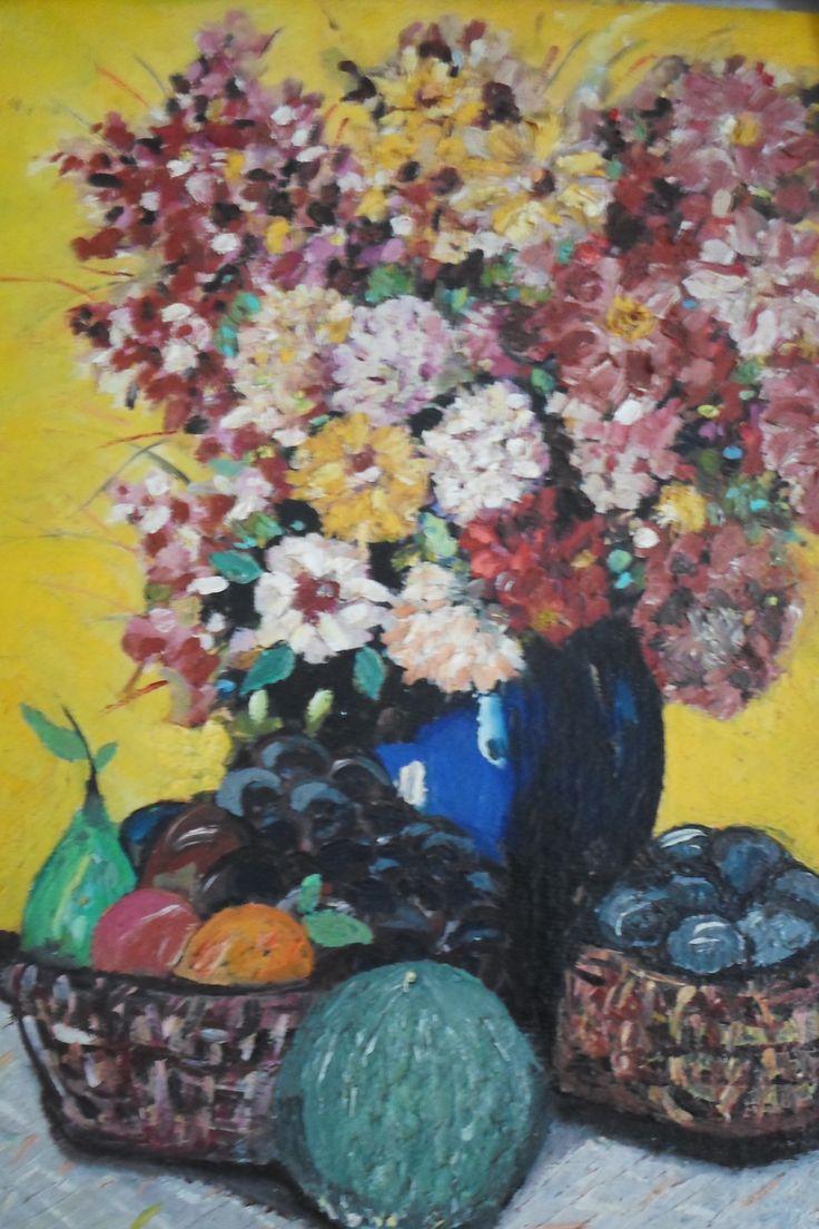 Pintando quadro de flores - final