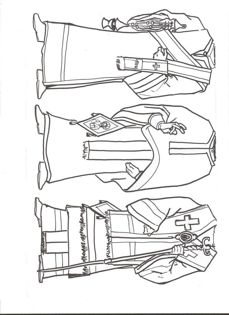 Vestiduras lit rgicas de Diacono Presbitero y Obispo