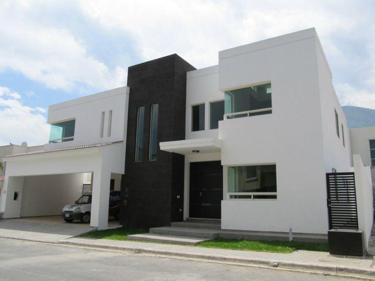 Fachada minimalista casas pinterest for Frentes de casas minimalistas