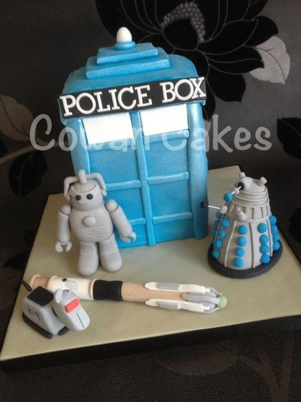 Dalek cake from Dr Who  Cake by Cowancakes