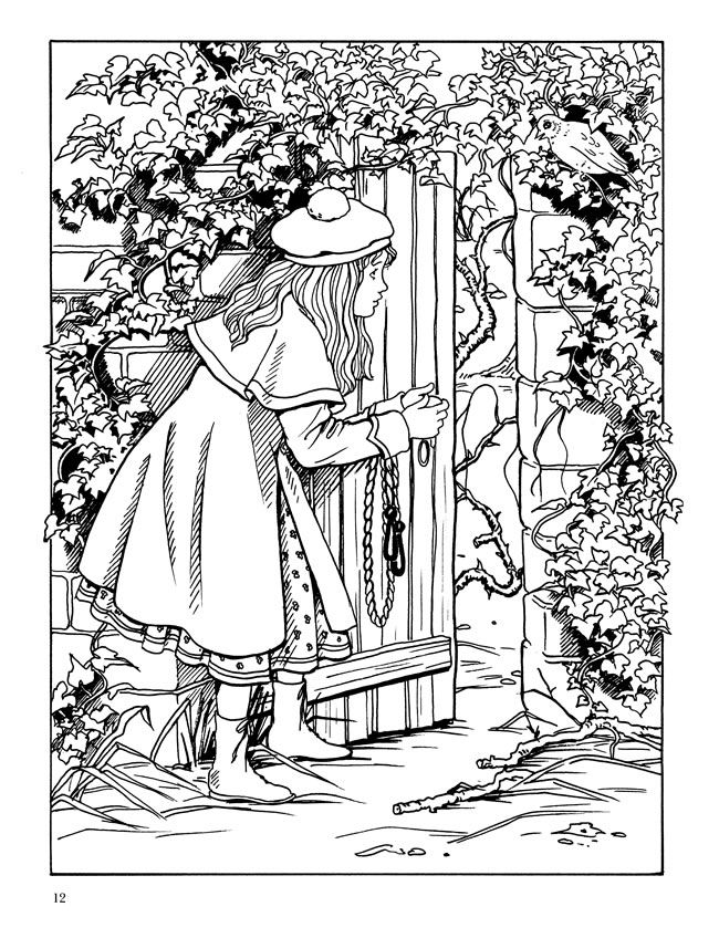Welcome To Dover Publications The Secret Garden Coloring Book