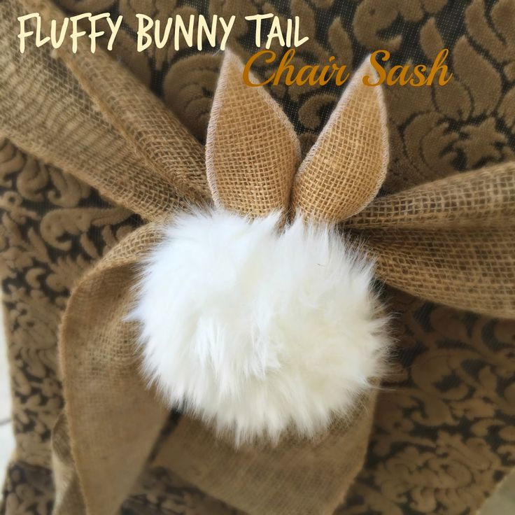 These adorable sashes look like alittle cottontail rabbitjust crawled right up the back of the chair,burrowed in anddecided to stay!    These are super easy and so adorable. I thinkthe kiddies won