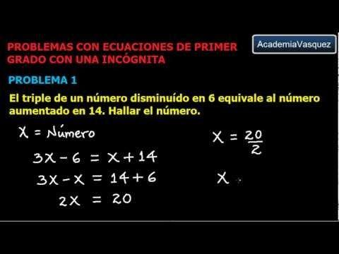 Ecuaciones de Primer Grado con una Incógnita - Problema 1
