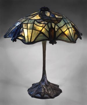 Bats stained glass lamp, so goth!  Halloween's on the way too, think you could make this in time??
