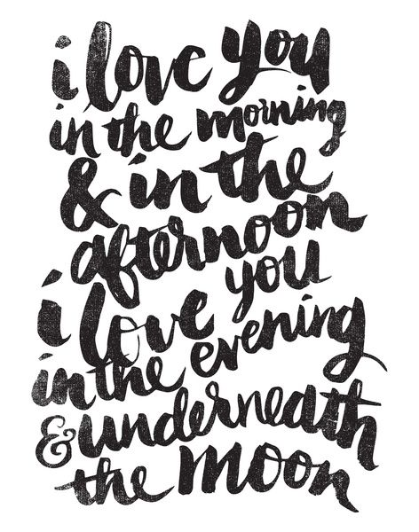 I love you in the morning Art Print by Matthew Taylor Wilson | Society6