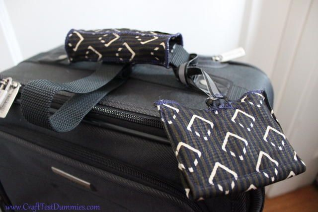 Old Tie Luggage Accessories | AllFreeHolidayCrafts.com