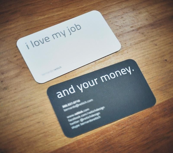 and your money.