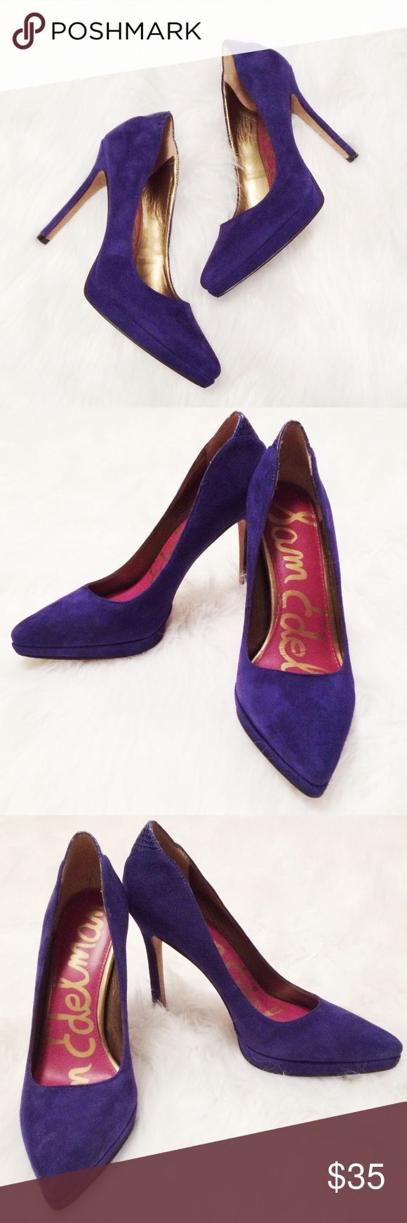 "Sam Edelman Celia Royal Blue Suede Stiletto Pumps Gorgeous royal blue suede heels in good pre-owned condition. Sexy 4"" heel. One small spot where stitching is a bit loose - shown in photo. Thank you for looking! Sam Edelman Shoes Heels"