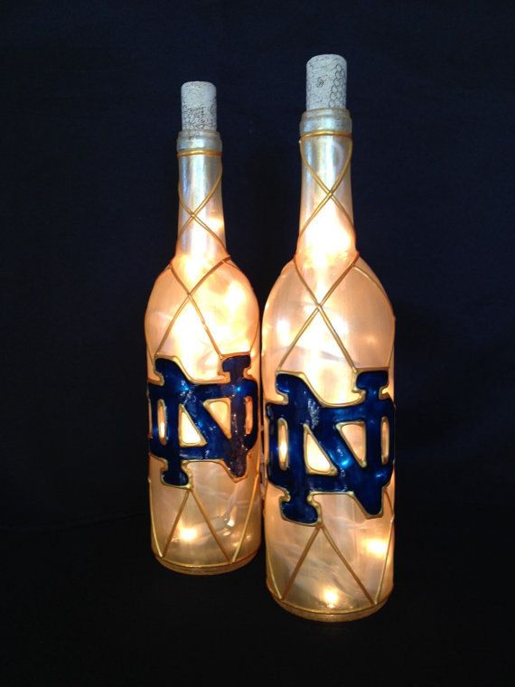 Notre Dame Wine Bottle Lamp by BottleOfLights on Etsy