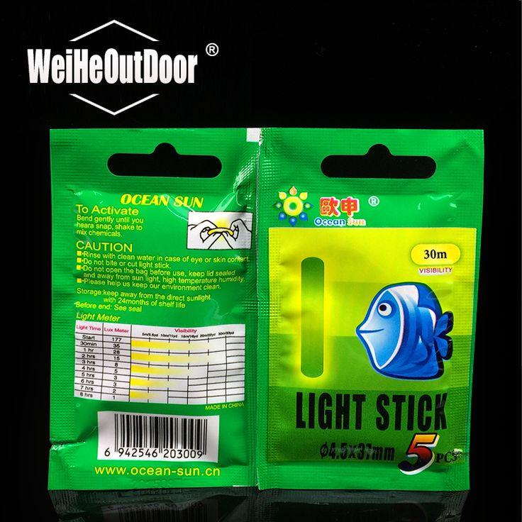 10pcs/lot ocean brand Multi-Color Fishing Float Fluorescent Lightstick Light Night Float Rod Lights Dark Glow Stick for Fishing