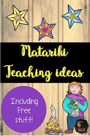 Matariki teaching ideas and free activities for classrooms in New Zealand