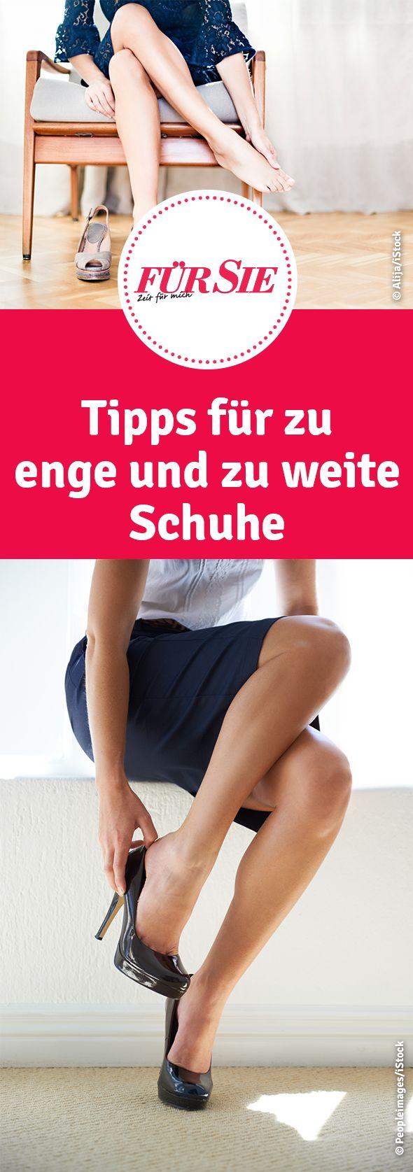 Tipps für zu enge und zu weite Schuhe