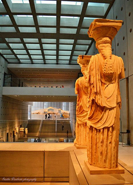This is my Greece   Karyatides (caryatid) at the Acropolis museum in Athens