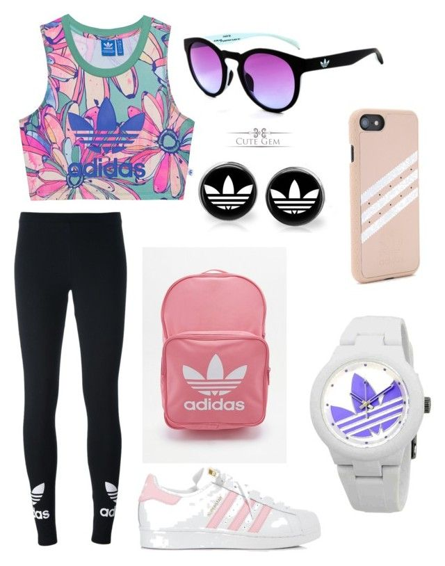 Adidas by olahtory on Polyvore featuring polyvore, fashion, style, adidas Originals, adidas and clothing