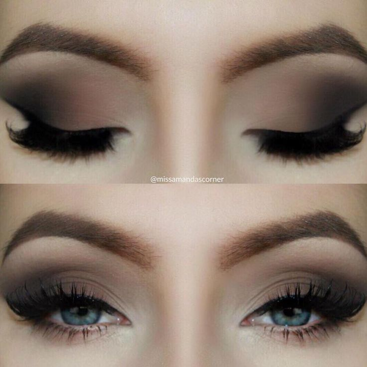 Brown Matte Smokey Eye.