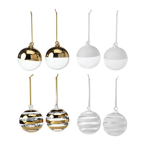 IKEA - VINTERMYS, Decoration, ornament, Easy to hang up since it comes with ribbons already attached.Mouth blown; each ornament has been shaped by a skilled craftsman.