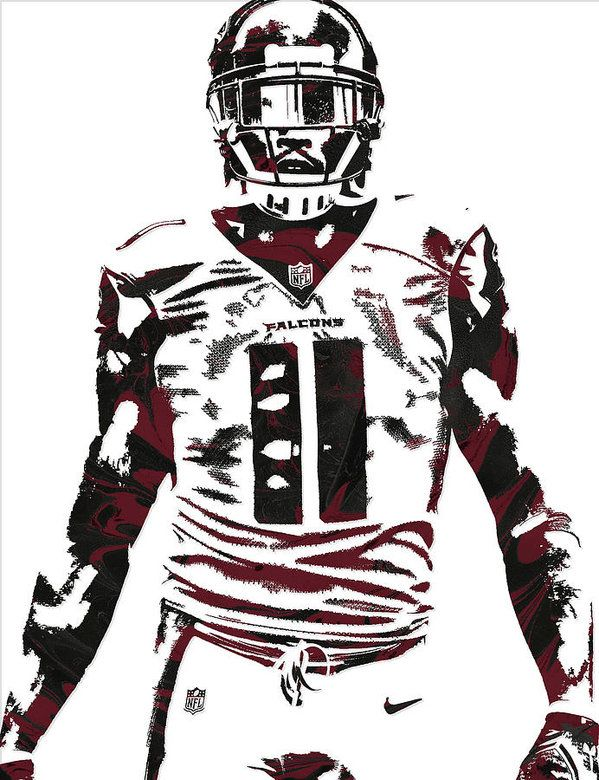 Julio Jones Atlanta Falcons Pixel Art 5 Art Print By Joe Hamilton In 2020 Julio Jones Atlanta Falcons Atlanta Falcons Pictures