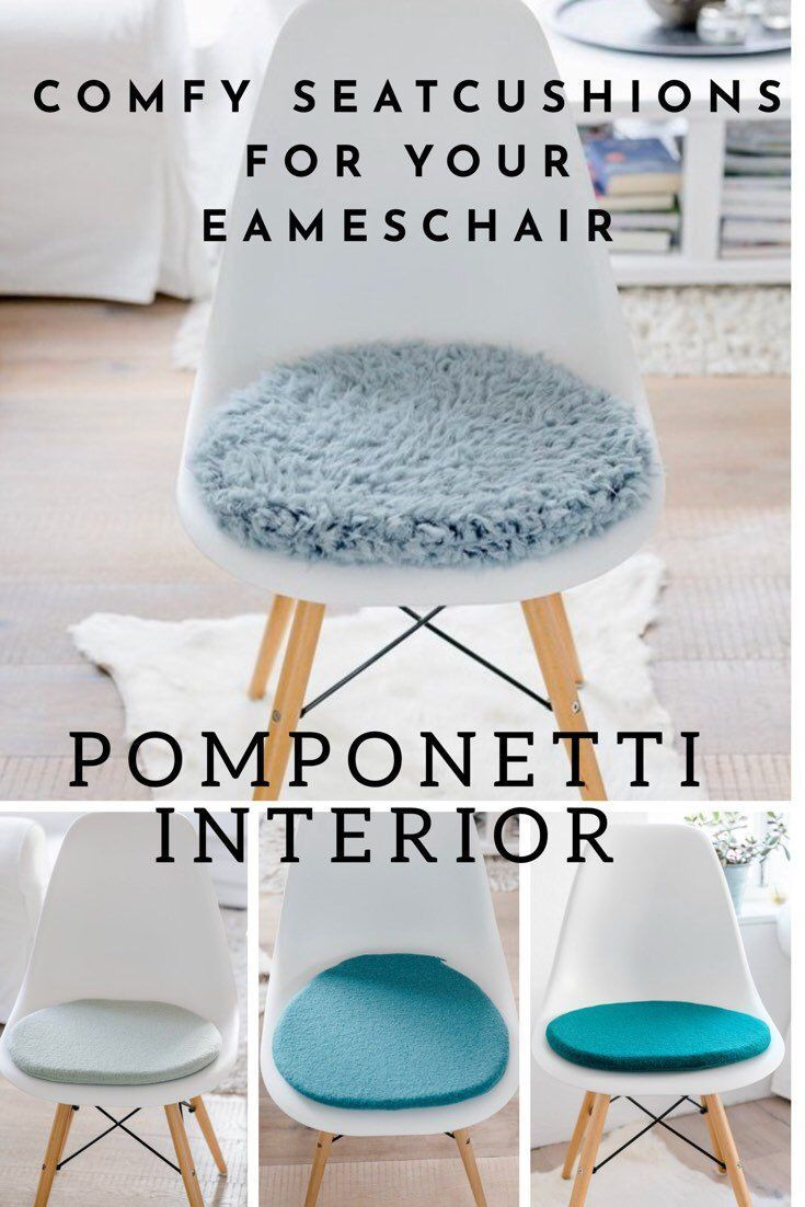 Sitzkissen Fur Eames Chair In Taubenblau Sitzkissen Wohnzimmer Sessel Eames