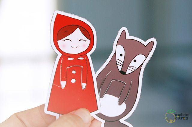 DIY � le marque-page du petit chaperon rouge (imprimable)