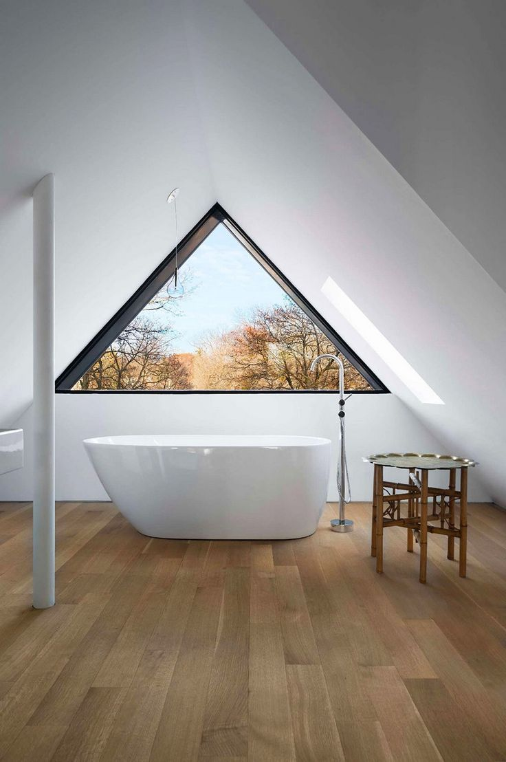 Triangular Attic Window in Victorian-Edwardian Renovation in #Toronto (via Fresh Home) #renovate
