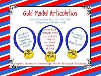 108 best SLP Olympics Freebies images on Pinterest ...