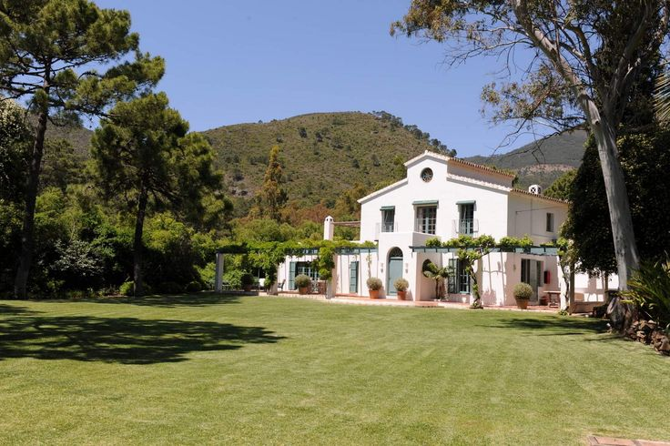 Luxury holiday villa ideal for weddings and holidays set in woodlands just outside of Benahavis near Marbella and Puerto Banus with easy access to Malaga Airport