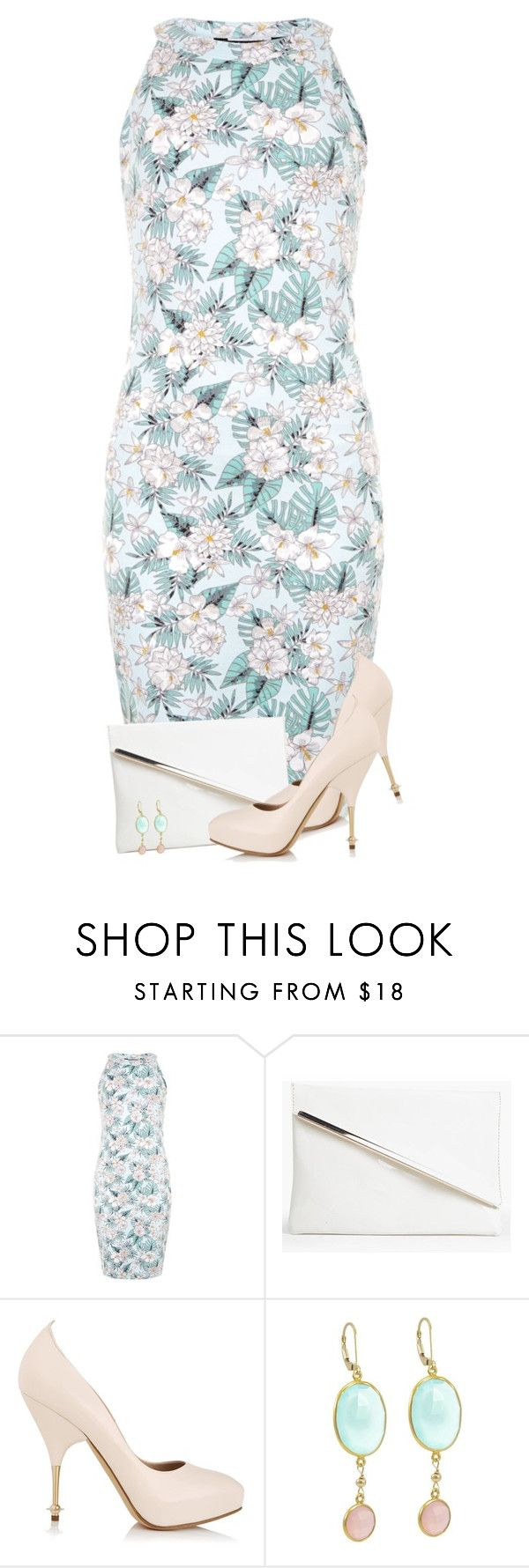"""""""Pink Pastel Pumps"""" by daiscat ❤ liked on Polyvore featuring New Look, Boohoo, Vivienne Westwood, Pumps, tropical and pastel"""