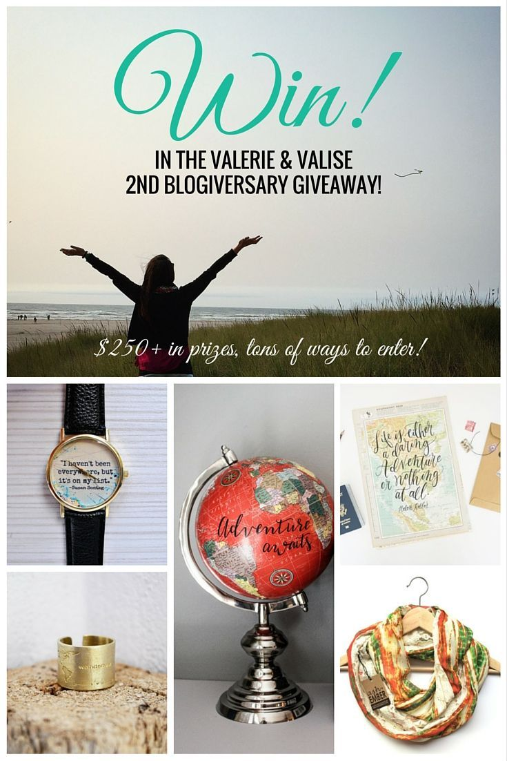 I entered to win in the Valerie & Valise second blogiversary giveaway! Contest ends 11:59pm PST on 10/31/2015.