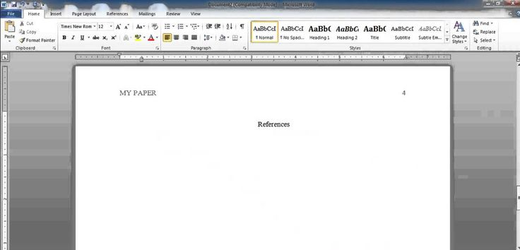 APA Reference Page Formatting