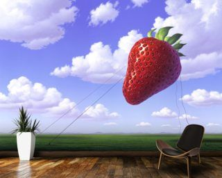 Strawberry Wall Mural From Jerry Lofaro. Our Wallpaper Murals Are Made To  Measure And Printed On Demand.