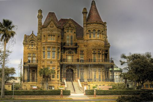 "This ""castle"" is actually a mansion is Galveston, Texas"
