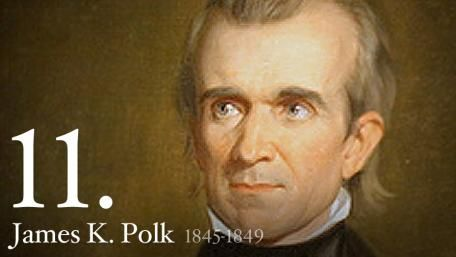 "James K. Polk U.S. President #11 - Often referred to as the first ""dark horse"" President, James K. Polk was the last of the Jacksonians to sit in the White House, and the last strong President until the Civil War."