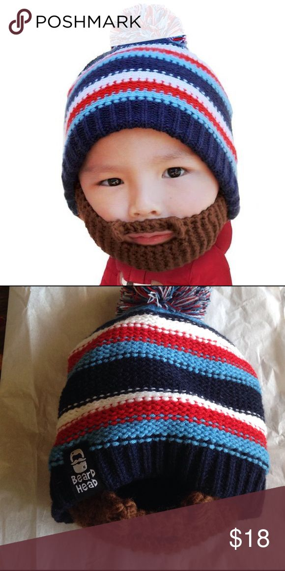 |NEW| Beard Head Kids Beanie NEW. Tags are with the beanie however it was detached. However never worn. Fits kids from 12M to 6yrs old. Beard Head Accessories Hats
