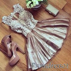 Vintage short prom dress,homecoming dress, 2016 handmade lavendar lace tulle…