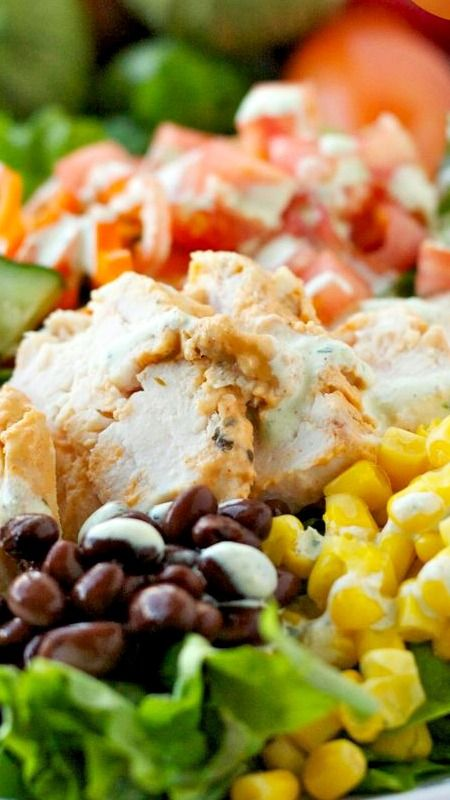 Southwestern Chicken Salad ~ So much flavor