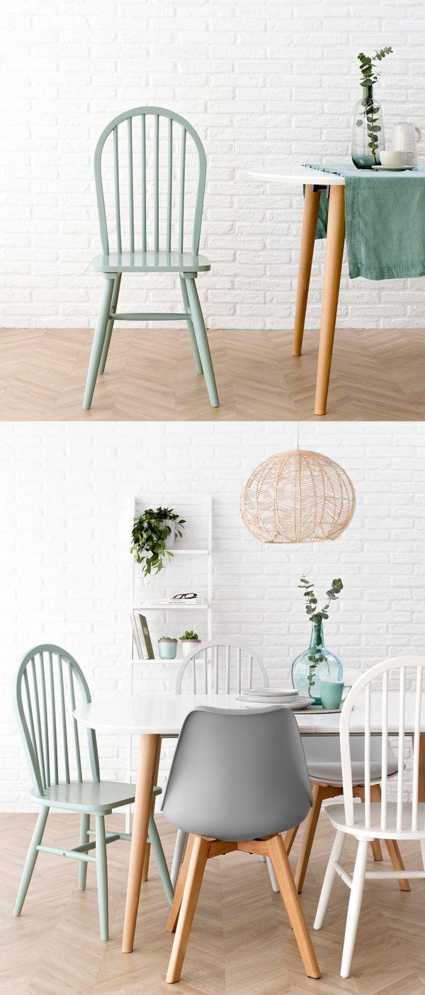 Mila silla verde | ¡Nuevas sillas de edición limitada! Las nuevas sillas Mila son el complemento perfecto para tu comedor o cocina. En madera lacada en tres bonitos colores: blanco, gris y verde.   ¡Corre, hemos traido unidades limitadas!  #kenayhome #home #silla #mila #verde #madera #cocina #comedor #hogar #decoración #mesa #carla #scandinavian #gris #accis #blanca #estilo #nórdico #decoración #interior #hogar #deco #nordik #design
