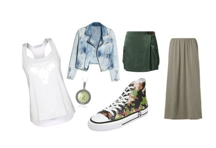 Sneakers & skirts.