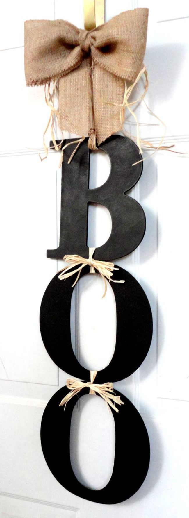 #Halloween #door #decor #boo #sign #wood #letters #DIY #decoration More pictures on the website. Click to see! Thank you!