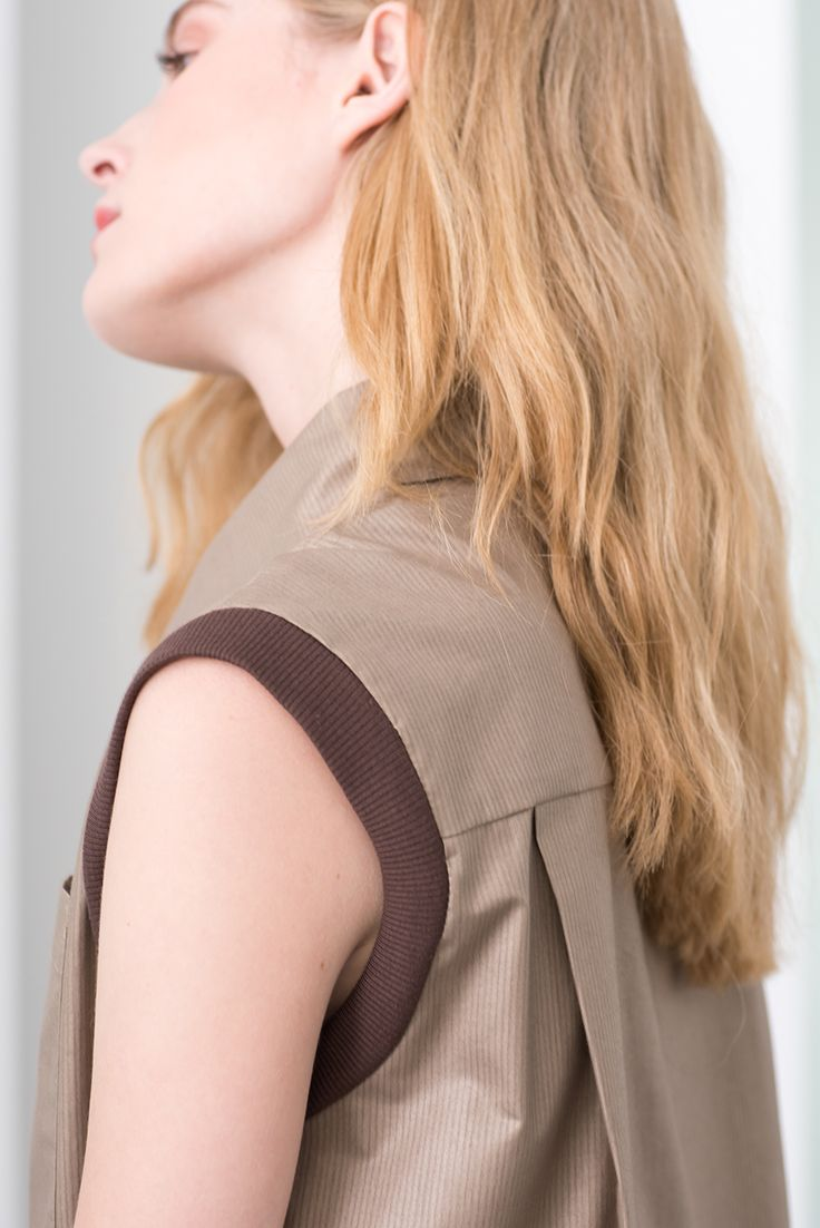 Craft brown sleeveless MONOCLINE blouse by Magpie Goose