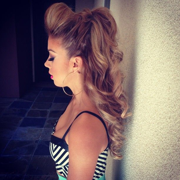 Cheerleader Hairstyles hairstyles tips and advices at hairstylestuffcom Perfect Cheer Hair Just A Little Smaller Bumpneed To Do For