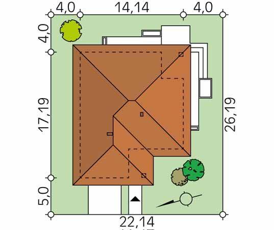 Projekt domu Ariel 3 - usytuowanie na działce