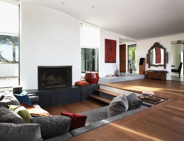 Modern sunken living room today's version